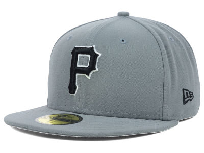 Pittsburgh Pirates MLB Gray BW 59FIFTY Cap Hats