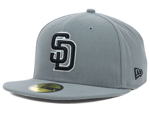San Diego Padres New Era MLB Gray BW 59FIFTY Cap Hats