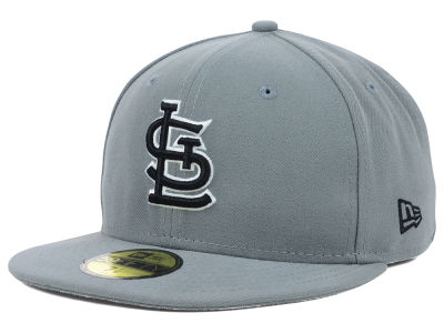 St. Louis Cardinals MLB Gray BW 59FIFTY Cap Hats