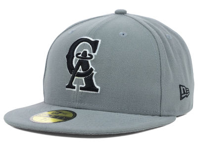 Los Angeles Angels of Anaheim MLB Gray BW 59FIFTY Cap Hats