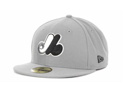 Montreal Expos MLB Gray BW 59FIFTY Cap Hats