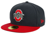 New Era NCAA 2 Tone Graphite and Team Color 59FIFTY Fitted Hats