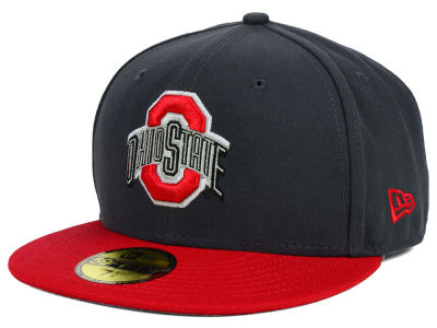 Ohio State Buckeyes NCAA 2 Tone Graphite and Team Color 59FIFTY Cap Hats