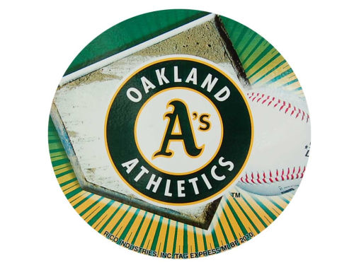 Oakland Athletics Rico Industries Round Vinyl Decal
