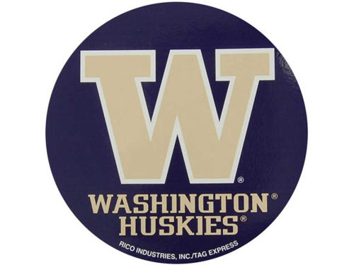 Washington Huskies Rico Industries Round Vinyl Decal