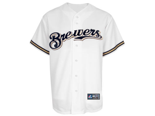 Milwaukee Brewers Majestic MLB Blank Replica Jersey