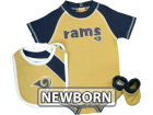 St. Louis Rams Outerstuff NFL Newborn Creeper Bib And Bootie Set T-Shirts