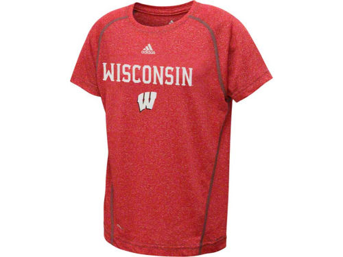 Wisconsin Badgers Outerstuff NCAA Youth Adidas Zero Crew T-Shirt