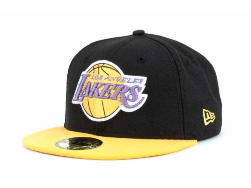 Los Angeles Lakers New Era NBA Hardwood Classics BC 2 Tone 59FIFTY Cap Hats