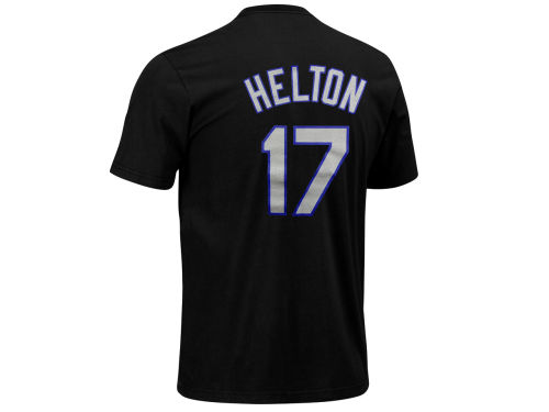 Colorado Rockies Mike Helton Majestic MLB Youth Player T-Shirt