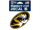 Missouri Tigers Wincraft 4x4 Die Cut Decal Color Bumper Stickers & Decals