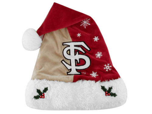 Florida State Seminoles Team Logo Santa Hat