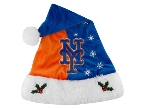 New York Mets Forever Collectibles Team Logo Santa Hat