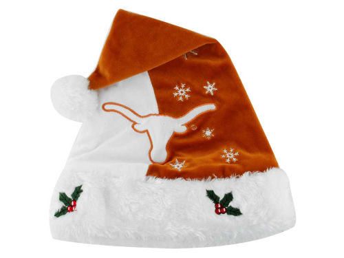 Texas Longhorns Forever Collectibles Team Logo Santa Hat
