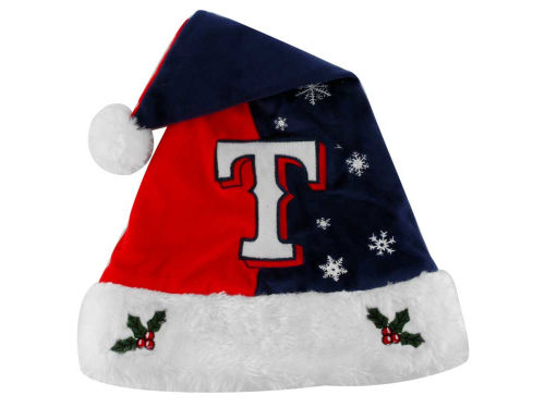 Texas Rangers Forever Collectibles Team Logo Santa Hat