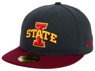 Iowa State Cyclones NCAA 2 Tone Graphite and Team Color 59FIFTY Cap Hats