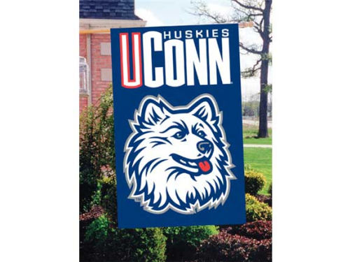 Connecticut Huskies Applique House Flag
