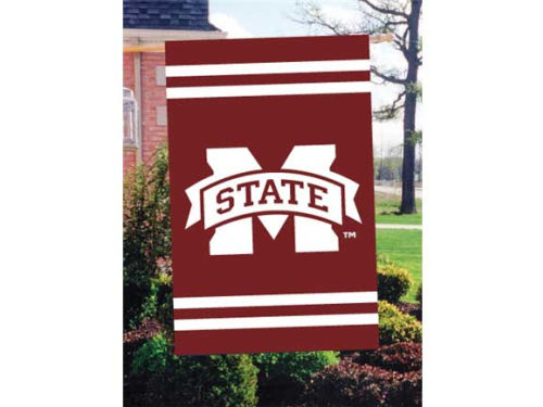 Mississippi State Bulldogs Applique House Flag