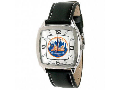 New York Mets Retro Leather Watch