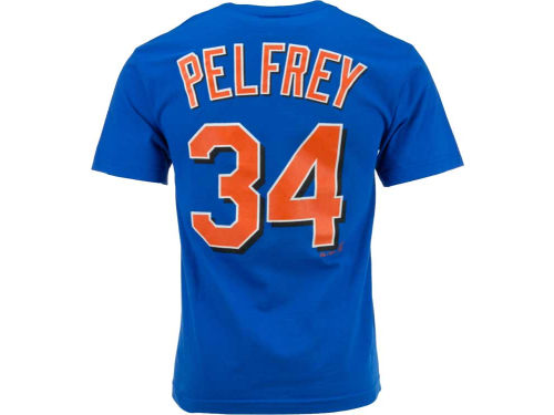 New York Mets Pelfrey Majestic MLB Player T-Shirt