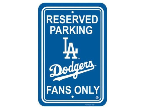 Los Angeles Dodgers Reserve Parking Sign