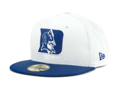Duke Blue Devils NCAA White 2 Tone 59FIFTY Cap Hats