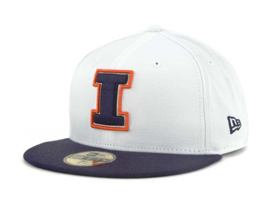 Illinois Fighting Illini NCAA White 2 Tone 59FIFTY Cap Hats