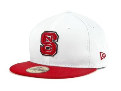 North Carolina State Wolfpack NCAA White 2 Tone 59FIFTY Cap Hats