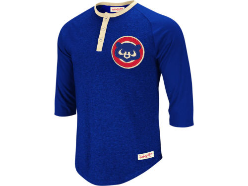 Chicago Cubs Mitchell And Ness Fastball Henley