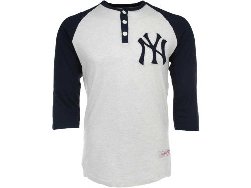 New York Yankees Mitchell And Ness Fastball Henley