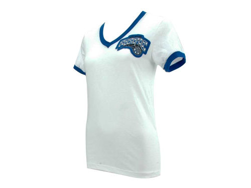 Orlando Magic Majestic NBA Womens Vneck Ringer T-Shirt