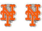 New York Mets Aminco Inc. Logo Post Earrings Jewelry