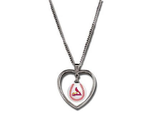St. Louis Cardinals Aminco Inc. Mini Baseball Heart Necklace
