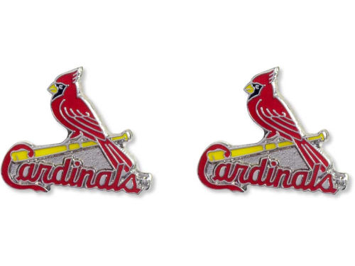 St. Louis Cardinals Aminco Inc. Logo Post Earrings
