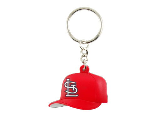 St. Louis Cardinals Aminco Inc. MLB Soft Rubber Cap Keychain