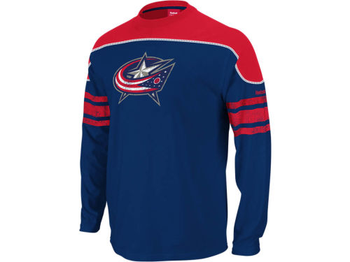 Columbus Blue Jackets Reebok NHL Shootout Long Sleeve T-Shirt