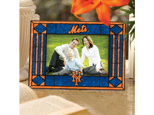 New York Mets Art Glass Picture Frame