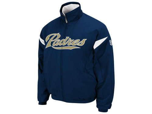 San Diego Padres Majestic MLB Therma Base Triple Peak Premier Jacket