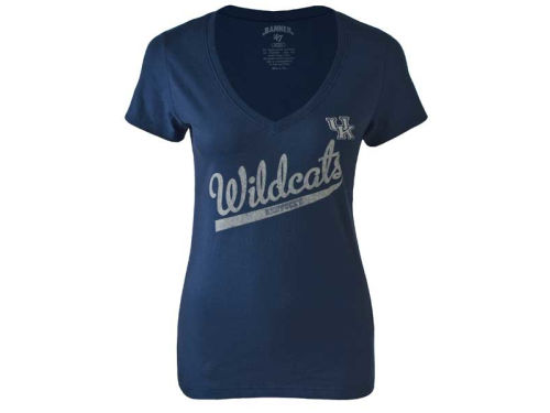 Kentucky Wildcats '47 Brand NCAA Womens Fieldhouse V-neck T-Shirt