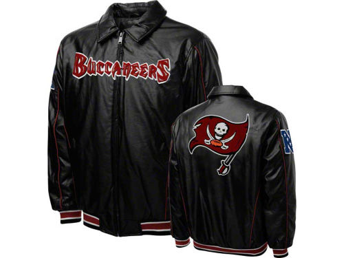 Tampa Bay Buccaneers GIII NFL Faux Leather Jacket