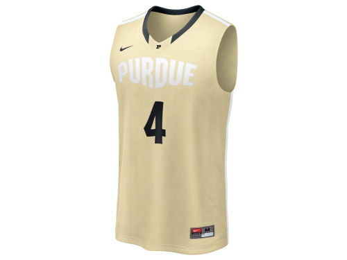 Purdue Boilermakers #4 Nike NCAA Twill Basketball Jersey