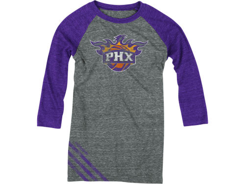 Phoenix Suns NBA Womens Big Stripe Three Quarter Sleeve