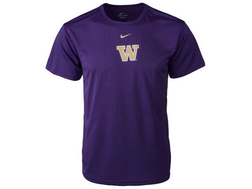 Washington Huskies Haddad Brands NCAA Drifit Logo T-Shirt