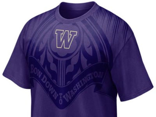 Washington Huskies Haddad Brands NCAA Basketball Aero T-Shirt