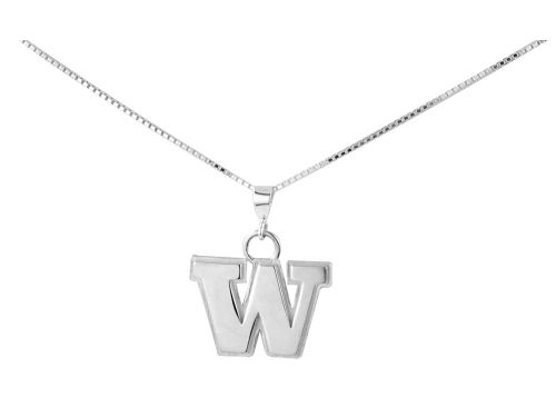 Washington Huskies Silver Charm Necklace