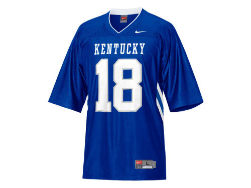 Kentucky Wildcats #18 Haddad Brands NCAA Youth Replica FB Jersey