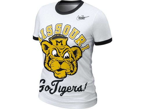 Missouri Tigers Nike NCAA Womens Vault Ringer T-Shirt
