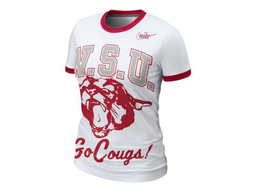 Washington State Cougars Nike NCAA Womens Vault Ringer T-Shirt