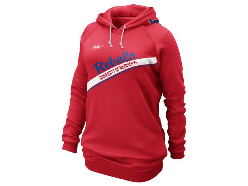 Mississippi Rebels Nike NCAA Womens Vault Long Boyfriend Hoodie