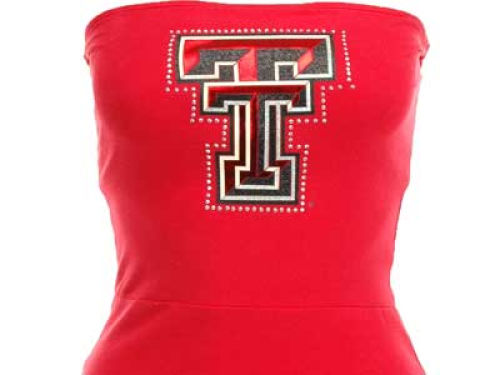 Texas Tech Red Raiders Nike NCAA Womens Strapless Ruffle Dress